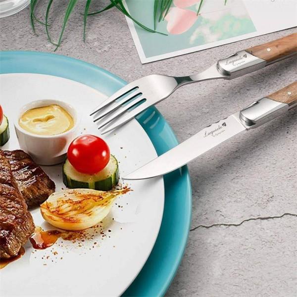 Lusso 6pcs Laguiole Coltello da bistecca Set di forchette ...