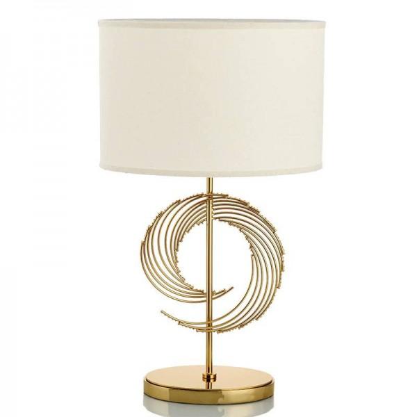 Lampada da tavolo semplice moda americana lampada in metallo corpo in tessuto paralume lampada da tavolo studio di design camera da letto lettura portalampada E27