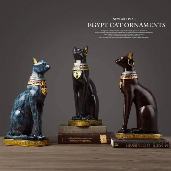 Lusso Gatto egiziano resina artigianale decorazioni per la ...