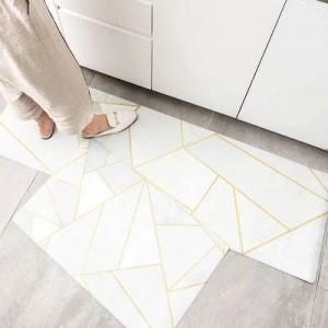 10 tappetini da cucina di design tappetini antiscivolo resistenti all'olio a striscia lunga antisdrucciolevole in moquette antivento in metallo per casa