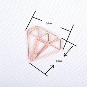 10 pezzi Nordic Office Placcatura diamante Clip di stoccaggio Chic Ins Mini in ferro battuto Mini documento Clip di archiviazione Clip Clip di tenuta
