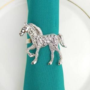 10pcs / lot anello di tovagliolo di cervo di natale oro rosa perla anello di tovagliolo di metallo fibbia di tovagliolo anello di tovagliolo