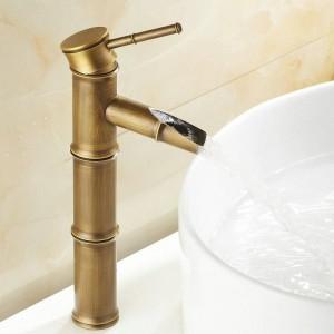 """12 """"Ottone antico Banboo rubinetti gru bagno rubinetto miscelatore lavabo lavandino 9036A"""