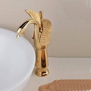 """12 """"Rubinetti per cigno lucidati dorati Rubinetto per lavabo Gru rubinetto miscelatore 9002G"""