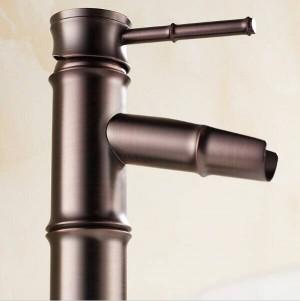 """12 """"ORB Bamboo Rubinetto per bagno in bronzo lucidato a olio Rubinetto per gru a ponte 9036O"""