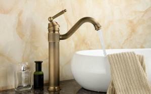 """13 """"Rubinetti in ottone antico Lavello da cucina girevole Lavabo bagno Miscelatore rubinetto 9883A"""