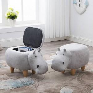 Sconto del 15%! Sgabello per scarpe Pouf Sedia Divano in pelle Pouf pouf Borsa Giocattoli per bambini Poggiapiedi Poggiapiedi in legno massello Nordic Home Deco Furni