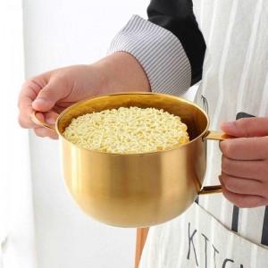 1 PZ Scodella per noodles multifunzione con anello per anse Insalata di gelato Zuppa per scodelle istantanee Contenitore per alimenti da cucina