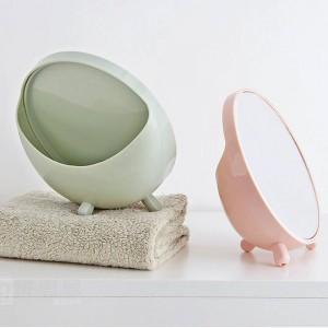 1PC specchio per il trucco del desktop specchio per trucco rotondo dormitorio per studenti specchio del desktop specchio per principessa portatile wx8291807