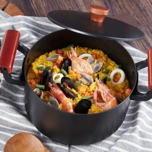 2019 Più nuova famiglia di alta qualità Pentola per zuppa 4.5L Pentola in ghisa Pentola per fornello a induzione