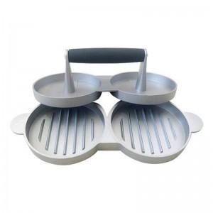 2 torte fai-da-te Torte Patty Maker Alluminio antiaderente Doppia Burger Press Carne Manzo Grill Cucina di casa BBQ Strumenti di cottura