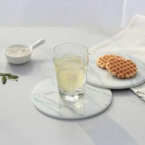 2 pz / pacco di marmo grano sottobicchiere tazze tappetini pastiglie in ceramica utensili da cucina di casa desktop antiscivolo arredamento di lusso diametro pad tazza 15 cm