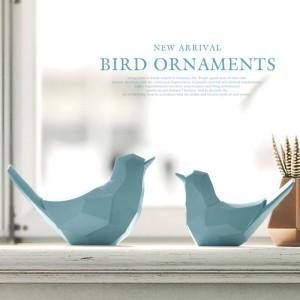 2 pz / set coppia uccelli fata giardino decorazioni figurine in resina artigianato per accessori decorazione della casa per il regalo da tavolo giocattoli ornamento