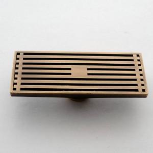 30cmx8cm Rettangolo Ottone Antico Spazzolato Carvd Scarico Bagno Scarico Bagno Cucina Veranda Portico Scarico Scarico a pavimento