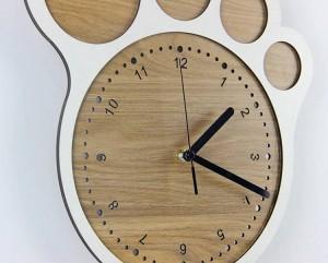 33 * 30 cm Semplice arte creativa orologio Piedi orologi orologio da parete soggiorno camera da letto orologi silenziosi Decorazione murale