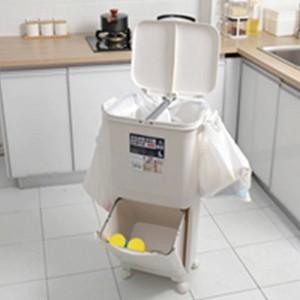 Bidone della spazzatura dei rifiuti del bidone della spazzatura dei rifiuti della classificazione 45L dei rifiuti per la cucina bidoni della spazzatura a doppia piattaforma ad alta capacità della cucina