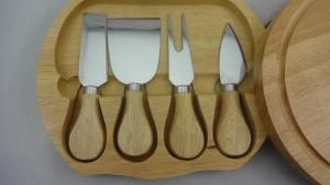 Coltello da formaggio 4 pezzi in scatola di legno, coltello da formaggio