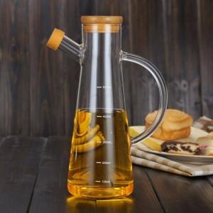 500ml Trasparente alto vetro borosilicato resistente al calore Vasi di olio di vetro Bottiglie da cucina Condimenti di soia Bottiglie di aceto