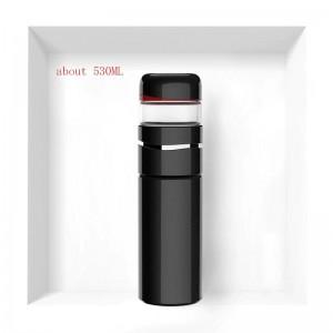 530ML Breve colore solido 3404 Boccette per vuoto in acciaio inossidabile High-end Business Tè Acqua Separata Tazza diritta Trasporta bottiglie di tè
