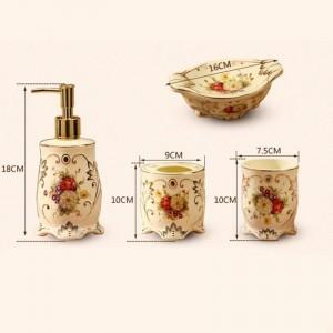 5 pezzi moda bagno in ceramica set accessori per il bagno spazzola dentale tazza portasapone portaspazzolino decorazione di cerimonia nuziale