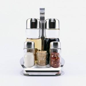 5Pcs Bottiglie di vetro da cucina Bottiglie Porta stuzzicadenti Stagionatura Set di cremagliere Caldo
