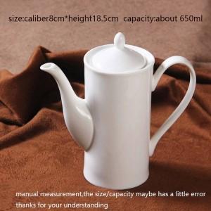 650ml moderno caffettiera latte osso di ceramica manico bianco teiera drinkware / succo di casa tè bollitore acqua teiere pomeridiane