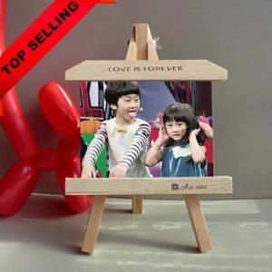 Cavalletto con cornice in legno da 7 pollici cornice per foto creativa personalizzata cornici in ardesia prodotto altalene decorazioni per la casa Regalo per bambini