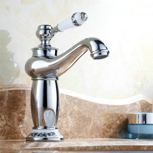 """8 """"Rubinetti cromati Lavabo Bagno Lavabo Miscelatore rubinetto in ottone porcellana 9031Cp"""