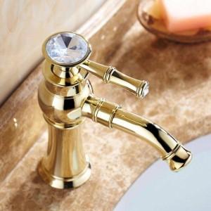 """8 """"Rubinetti dorati Lavabo bagno Lavabo rubinetto in ottone Rubinetto 360 girevole 9891G"""
