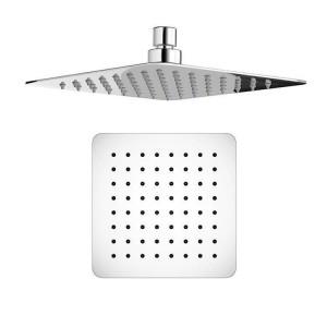 """Set soffione termostatico ultrasottile per miscelatore quadrato da 8 """"con getti cromati per il massaggio del bagno"""