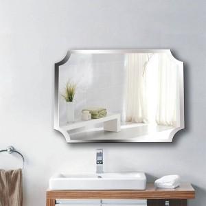 A1 Semplice frameless angolo interno specchio da bagno appeso a parete bagno wc trucco spogliatoio specchio sospeso wx8221858