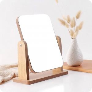 A1 Specchio da trucco in legno desktop specchio da toeletta camera da letto specchio da principessa specchio da scrivania portatile wx8291750