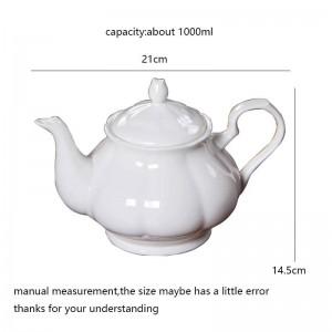 Circa 1000 ml di caffè moderno caffettiera con osso in ceramica teiera bianca drinkware / giardino pomeridiane teiere tè nero bollitori regalo