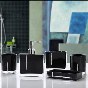 Set di cinque pezzi in acrilico set da bagno set regalo articoli da bagno amanti della spazzola tazza di diamante Portasapone Portaspazzolino