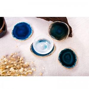 Sottobicchiere in agata Sottobicchiere in pietra con vassoio decorativo