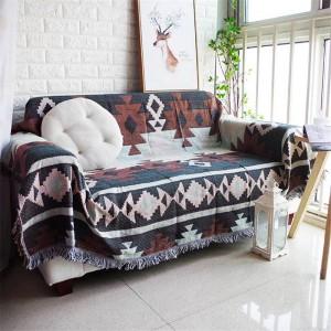 Tutte le partite Stile esotico Coperta da tiro Filo di cotone Fodera per divano Fodera geometrica Coprivaso Coperte morbide per letti Nappa