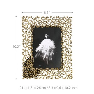 Portafoto in lega di alluminio Portafoto in metallo Portafoto da tavolo decorativo Portafoto frontale in vetro trasparente