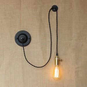 Applique da parete creative da parete in stile country americano fai-da-te vintage Applique da parete industriale con interruttore a manopola per luce da lettura sul comodino della camera