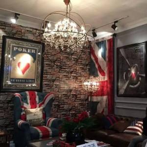 Paese americano retrò soggiorno cristallo Led lampada da terra villa negozio di abbigliamento commerciale creativo illuminazione da terra Vintage Illuminazione