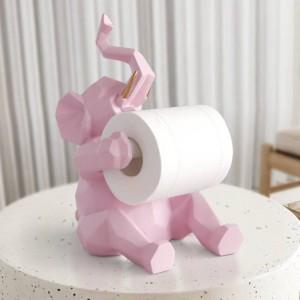 Statua animale Decorazioni artigianali rotolo portarotolo soggiorno ufficio ristorante appeso carta Elefante / cervo figurine decorazioni per la casa