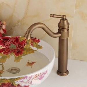 Rubinetto antico da cucina Rubinetto per lavabo Rubinetto per lavabo Antqiue Bagno in ottone Rubinetto per vasca Bagno Miscelatore WC