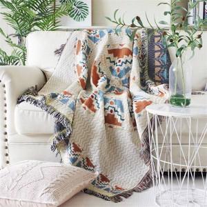 Aura of love Coperta da tiro Fodera per divano Fodera per protezione geometrica Fodera per interni Coprispalle Coprispalle per letti Nappa Natale