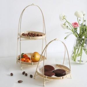 Cestini di bambù intrecciati Cestini di vimini fatti a mano Decorare la casa Conservazione Frutta Pane Alimenti per l'organizzatore della cucina Panier Osier