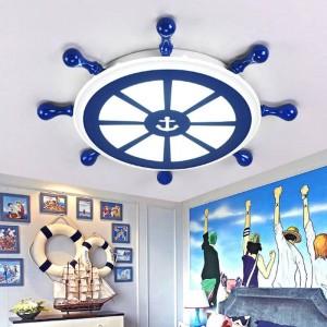 Bar salone art deco lampada da marinaio Apparecchi a led illuminazione a soffitto stanza dei bambini Lampada da soffitto a led da studio blu per ufficio