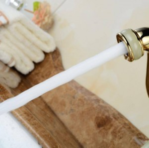 Lavabo rubinetto flessibile estraibile rubinetto marmo dorato lucido marmo pietra lusso cucina lavello miscelatore rubinetto rubinetti del bagno XT621