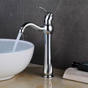 Miscelatore Lavabo Miscelatore per lavabo a freddo caldo Gru per lavandino Rubinetto per lavabo monocomando Rubinetto in nichel Rubinetti per lavabo Deck Lavaggio vintage LAD-413