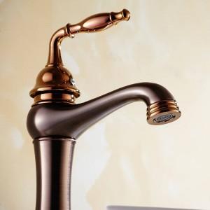 Miscelatori lavabo ottone bronzo lucidato olio bagno lavandino rubinetto monocomando ponte lavabo vaso acqua miscelatore gru nera 9238