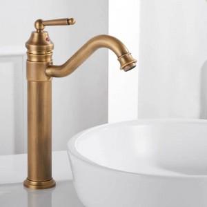 Rubinetti per lavabo Placcato oro Rubinetti per bagno montati a ponte Rubinetti per bagno in ottone Miscelatore Gru Torneira Miscelatore monocomando 6633