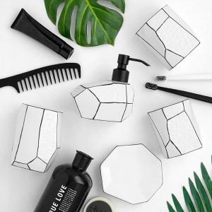 accessori per la decorazione del bagno dispenser di dentifricio porta spazzolino da bagno set 5 pezzi