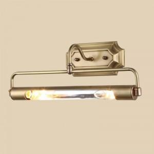 Lampada da bagno oro specchio frant Lampada da parete a tubo lungo anti-ruggine per armadio progetto spogliatoio Lampada da parete a LED a specchio